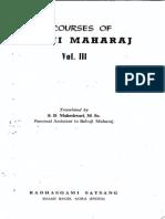 Discourses of Babuji Maharaj Vol-3