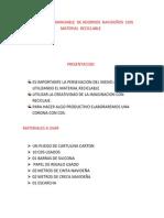 ELABORACION MANUABLE  DE ADORNOS  NAVIDEÑOS  CON  MATERIAL  RECICLABLE