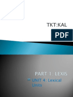 TKT KAL Unit 1 Part 4 Lexical Units