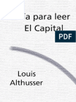 Althusser, Louis - Guía para leer el Capital