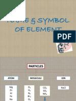 Name & Symbol of Element