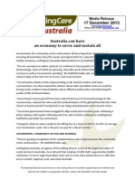 20131217 UnitingCare Australia - An Economy to Serve and Sustain All