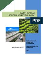 Kajian Evaluasi Strategi Sertifikasi Tanah