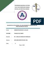 Informe de Administracion de La Salud