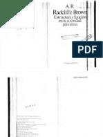 Estructura y Funcion en La Sociedad Primitiva (Brown Radcliffe
