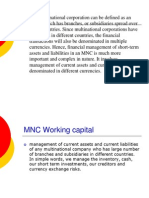 Working Capital Management for MNCs.st
