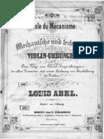 Mechanism Louis Abel Violin Exercises