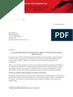 2013 NSWCCL Letter - CSG protestors case - Ombudsman