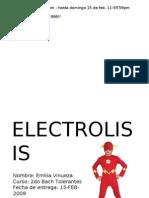 proyecto electrólisis