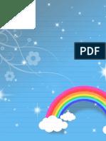 Free Printable Stationery Rainbow