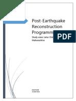 The Latur Post Earthquake Reconstrcuction