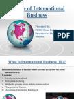 Nature of International Business&Globalization_unit1