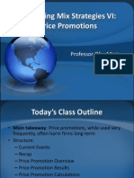 Marketing Mix VI Price Promo