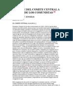 Mensaje Del Comite Central a La Liga de Los Comunistas