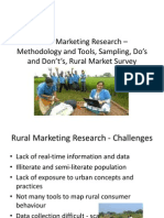 1.8.Rural Marketing Research – Methodology and Tools,