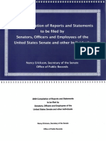 2009 Compilation of Reports and Statements to be filed by Senators, Officers and Employees of the United States Senate and Other Individuals