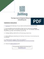 Jbilling Installation Instructions