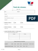 Fle 1112 Test Placement Ecrit