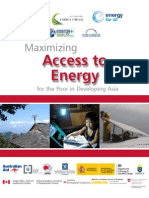 Maximizing Access to Energy for the Poor in Developing Asia