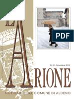L'Arione notiziario comunale di Aldeno, dicembre 2013