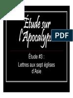 Lettre aux 7 églises d'asie