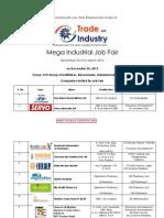 Mega Industrial Job Fair
