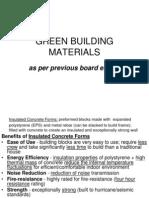 Green Materials Handout