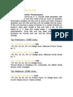 Tan Nation Army List (Army Men PAZCIK)