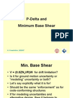 P-Delta and Minimum Base Shear