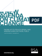 A New Agenda on Climate Change