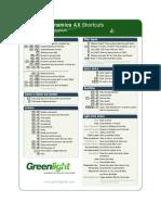 Dynamics AX 2012 Shortcuts (GL)