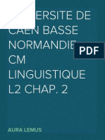 CM Linguistique L2 Chap. 2