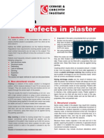 Common defects in plaster