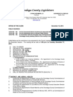 Onondaga County Legislature Agenda 12 17 13