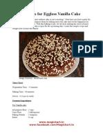 Recipes for Eggless Vanilla Cake
