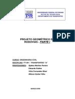 PROJETO GEOMÉTRICO DE RDOVIAS