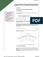 LOCAÇÃO DE CURVAS CIRCULARES SIMPLES