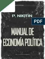 NIkitin Manual de Economia Politica