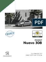 Ficha Técnica Nouvelle 308 Allure y Féline y Premier 051213