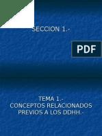 Tema 1 Conceptos dos a Los Ddhh