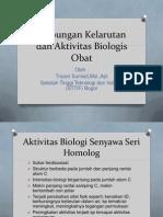 Hubungan Kelarutan Dan Aktivitas Biologis Obat