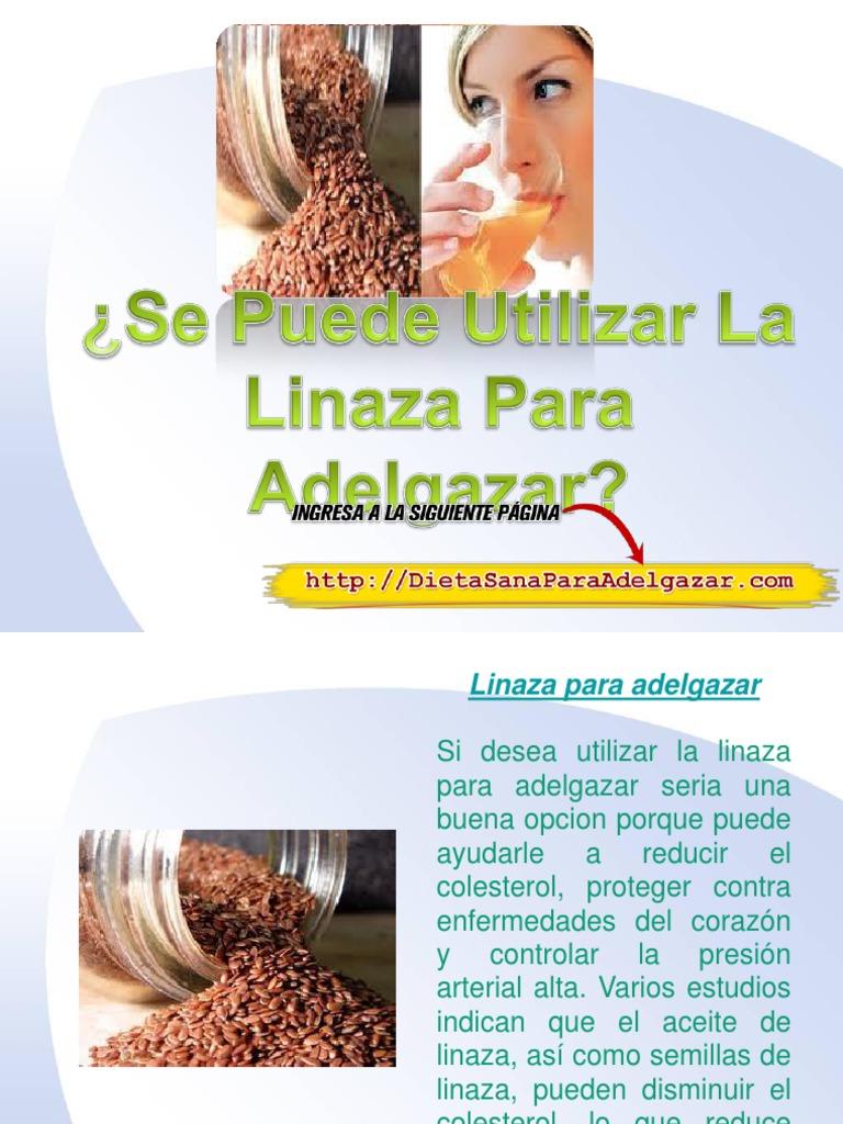 linaza para adelgazar abdomen y gluteos