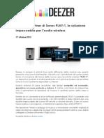 Deezer è partner di Sonos PLAY1, la soluzione impeccabile per l'audio wireless_17.10