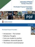 Sonja Coetzee PhD Proposal Presentation 4 April 2012 2