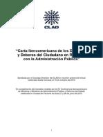 Carta Iberoamericana de Los Deberes y Derechos - Documento Aprobado