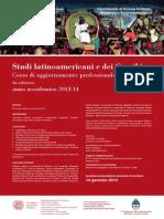 Studi latinoamericani e dei Caraibi Corso di aggiornamento professionale