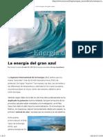 La energía del mar