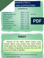 Farmaseutika II – Tablet Dan Suppositoria