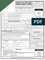 Enrollment Form 2014