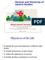 Types, Architecture and Hierarchy of Research Studies